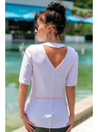 Недорогая женская блуза с коротким рукавом. Норма и батал