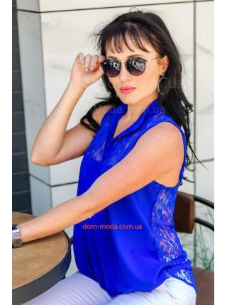 Летняя блузка с кружевной спиной