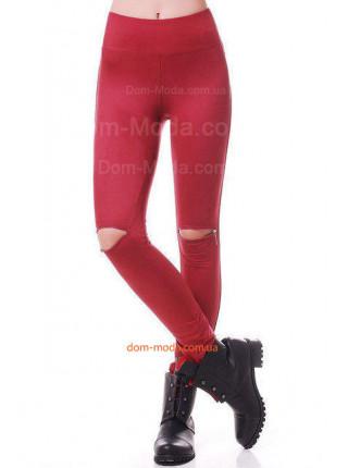 Стильные лосины с замками на коленях