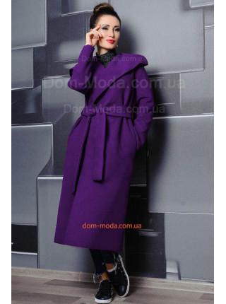 Длинное пальто без подкладки для полных женщин