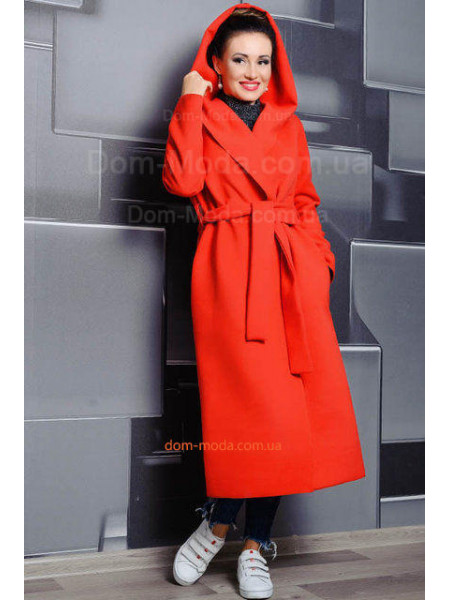 Довге пальто без підкладки для повних жінок