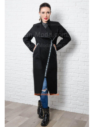 Стильне пальто без підкладки для пишних жінок