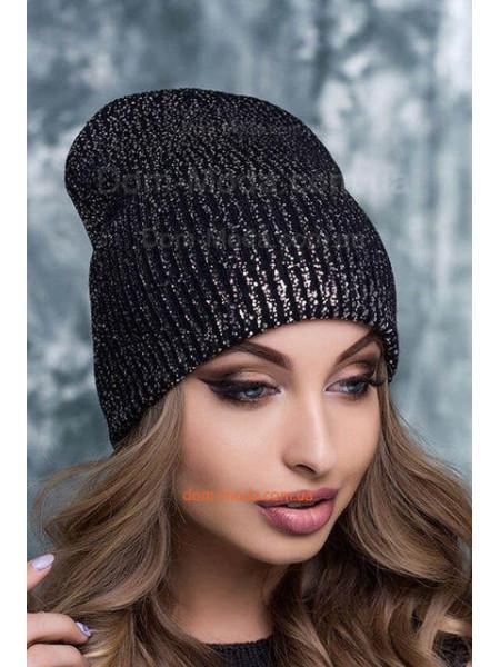 Модная шапка на флисе для девушек