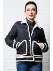 Коротка куртка на овчині великого розміру