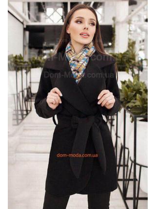 Короткое кашемировое пальто с поясом для женщин с формами