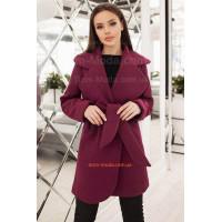 Коротке кашемірове пальто із поясом для жінок із формами