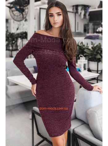 Женское платье с открытыми плечами батал