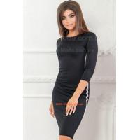 Недороге трикотажне плаття жіноче із лампасами для повних