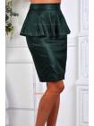 Стильная кожаная юбка с баской. Норма и батал