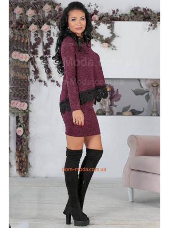Нарядный ангоровый костюм для девушек с формами