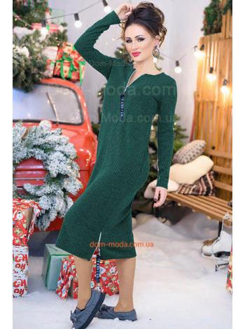 Стильное платье женское платье в рубчик большого размера