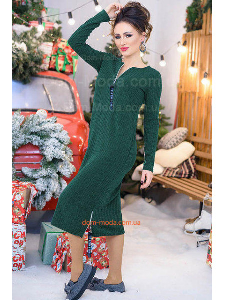 Стильне плаття жіноче плаття в рубчик великого розміру