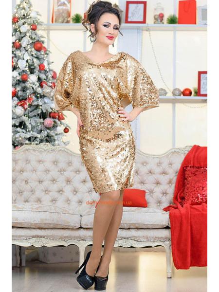 Женское нарядное платье с пайетки большого размера