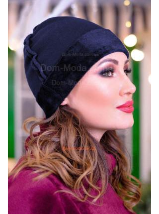 Модная женская шапка на меху