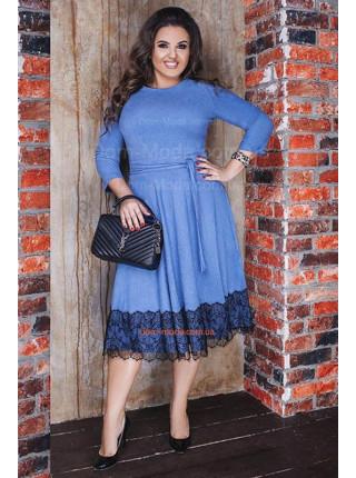 Красиве плаття жіноче із пишною спідницею для повних