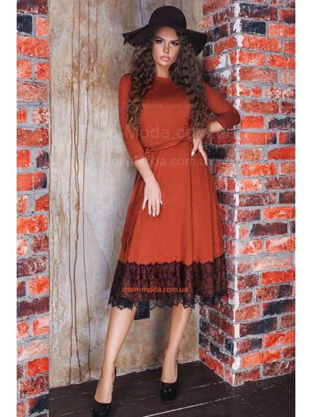 Красивое платье женское с пышной юбкой для полных