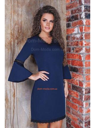 Короткое платье с рукавом для полных девушек