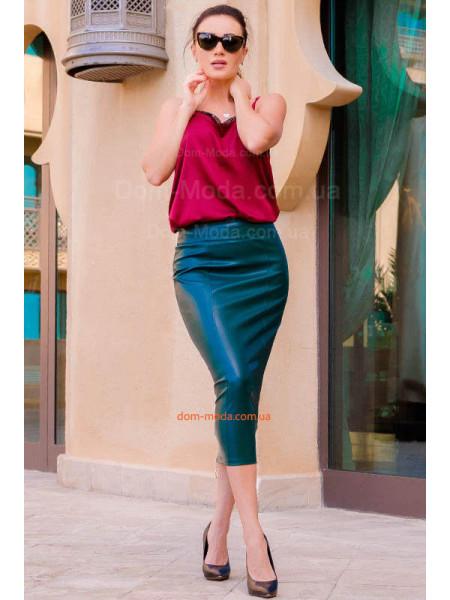 Жіноча модна спідниця міді із замком великого розміру
