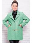 Стильне вкорочене кашемірове пальто для пишних жінок