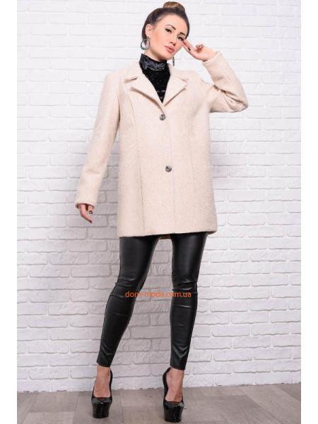 Стильне вкорочене кашемірове пальто для пишних жінок ... e7e25ce82354c