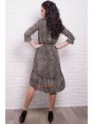 Леопардовое платье свободного кроя для полных