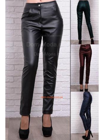 Кожаные модные брюки большого размера