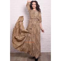 Жіноче леопардове плаття в підлогу великого розміру