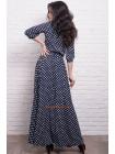 Длинное платье большого размера в горох и полоску