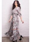 Платье в пол большого размера в цветочный принт