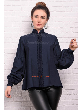 Женская джинсовая рубашка свободного кроя