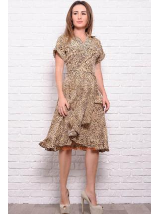 Летнее платье леопардовое большого размера