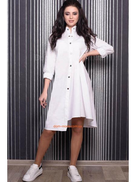 Оригинальное платье рубашка с рукавом большого размера