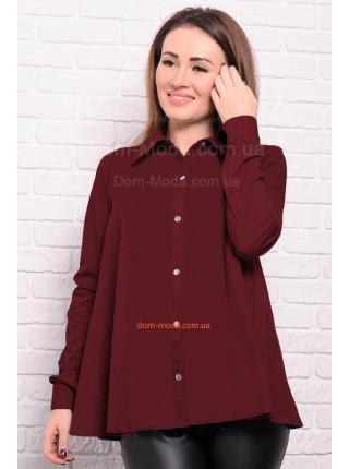Джинсова сорочка з довгим рукавом великого розміру
