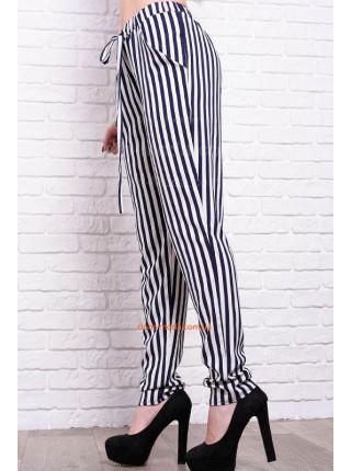 Женские брюки в полоску большого размера