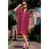 Модное льняное платье over size большого размера