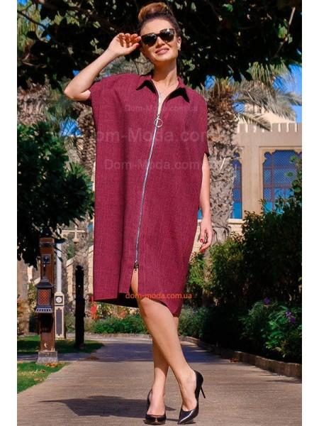 Модне лляне плаття over size великого розміру