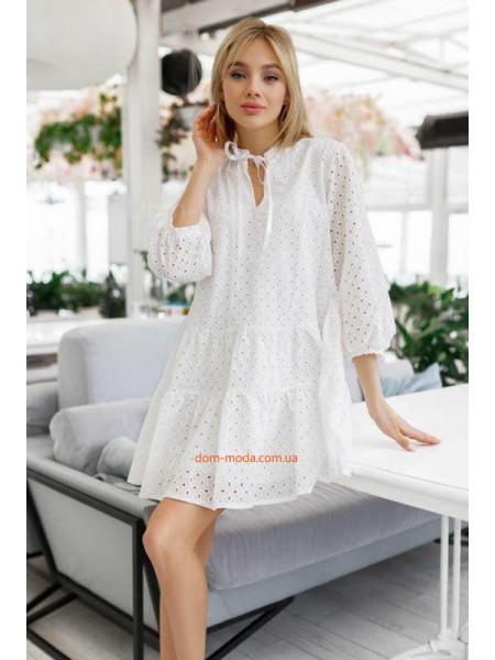 Летнее платье с рукавом для полных девушек