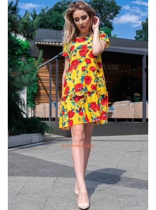 Короткое летнее платье с рукавом большого размера