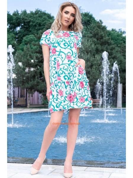 Коротке літнє плаття із рукавом великого розміру