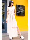 Модне плаття максі із розрізами для повних дівчат