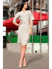 Льняное платье на запах большого размера