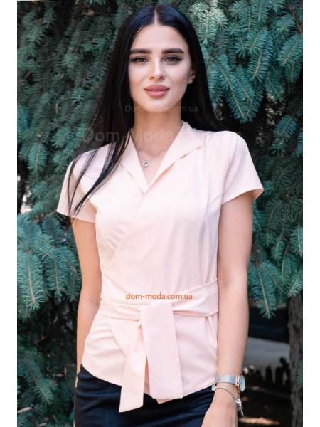Стильная женская блузка на запах большого размера
