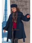 Женское расклешенное пальто для полных