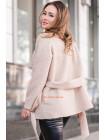 Модное короткое пальто из букле большого размера