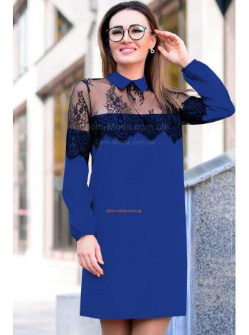 Жіноче коротке плаття із рукавом для повних
