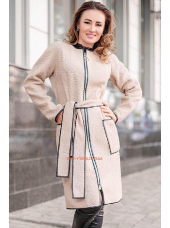 Женское пальто на молнии большого размера