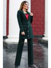 Стильний брючний костюм із подовженим піджаком великого розміру