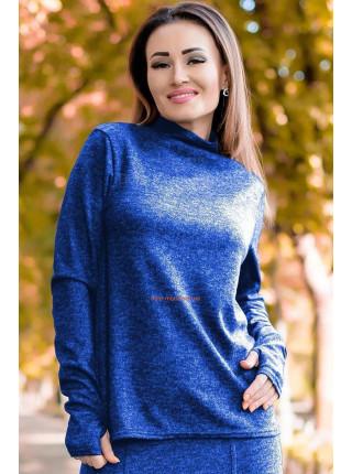 Теплый женский свитер для полных