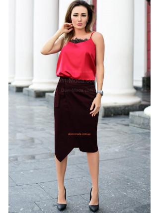 Жіноча модна спідниця на запах великого розміру
