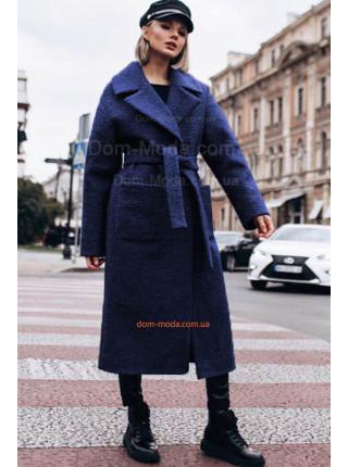 Женское зимнее пальто с поясом большого размера